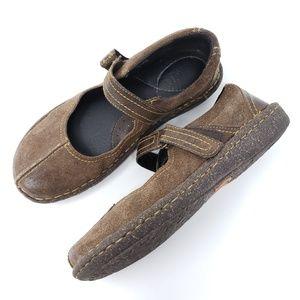 Born Mary Janes Loafers Split Toe Hook Loop Suede